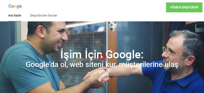 İşim İçin Google ile Türkiye'deki Küçük İşletmeler İşini İnternete Taşıyor!